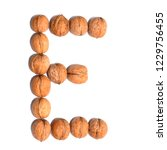 letter e made with nuts to form ... | Shutterstock . vector #1229756455