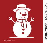 traditional snowman  simple... | Shutterstock .eps vector #1229763628