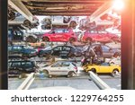 recycling of old used  wrecked...   Shutterstock . vector #1229764255