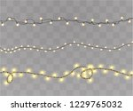 christmas lights isolated on... | Shutterstock .eps vector #1229765032