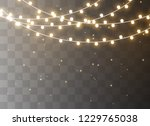 christmas lights isolated on... | Shutterstock .eps vector #1229765038
