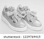 footwear for girls or women... | Shutterstock . vector #1229769415