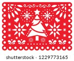 christmas papel picado vector... | Shutterstock .eps vector #1229773165