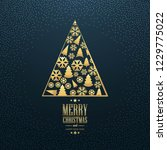 beautiful merry christmas card... | Shutterstock .eps vector #1229775022