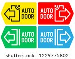automatic sliding door with... | Shutterstock .eps vector #1229775802