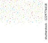 colorful round confetti  | Shutterstock .eps vector #1229776618