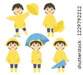 cute little boy in yellow...   Shutterstock .eps vector #1229792212