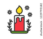 candle and holder  cute...   Shutterstock .eps vector #1229795182