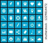 set of 36 editable social media ... | Shutterstock .eps vector #1229814472