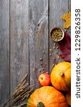 autumn harvest thanksgiving... | Shutterstock . vector #1229826358