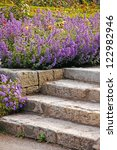 Stone Garden Stairs And Spring...