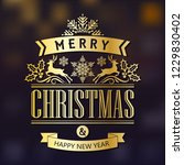 merry christmas and happy new... | Shutterstock .eps vector #1229830402
