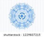 light blue passport money... | Shutterstock .eps vector #1229837215