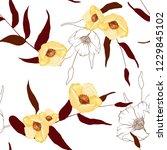 trendy seamless flower pattern. ... | Shutterstock .eps vector #1229845102