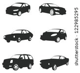 sets of silhouette cars and on... | Shutterstock .eps vector #122985295