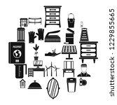 refinement icons set. simple... | Shutterstock . vector #1229855665