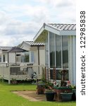 exterior of mobile caravan... | Shutterstock . vector #122985838