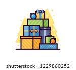 gift boxes vector illustration | Shutterstock .eps vector #1229860252