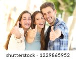 front view portrait of three... | Shutterstock . vector #1229865952