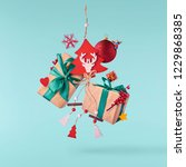 christmas concept.  creative... | Shutterstock . vector #1229868385