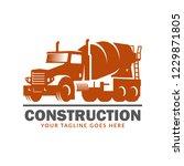 construction logo template ... | Shutterstock .eps vector #1229871805