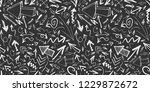 hand drawn arrows seamless... | Shutterstock . vector #1229872672