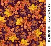 autumn. seamless autumn... | Shutterstock .eps vector #1229875858