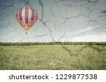 morning flight of the hot air... | Shutterstock . vector #1229877538