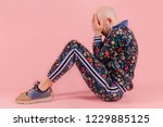 adult unhappy sad bald...   Shutterstock . vector #1229885125