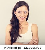front view of beautiful woman...   Shutterstock . vector #1229886088