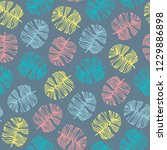 tropical seamless pattern with...   Shutterstock .eps vector #1229886898