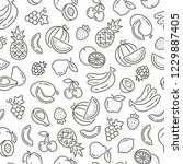 seamless pattern with fruits.... | Shutterstock .eps vector #1229887405