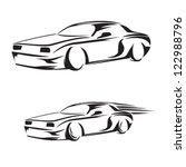 car silhouette   Shutterstock .eps vector #122988796