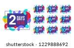 number of days left to go ...   Shutterstock .eps vector #1229888692
