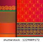 indian pattu sari vector... | Shutterstock .eps vector #1229889172