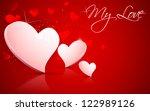 illustration of shiny valentine ... | Shutterstock .eps vector #122989126