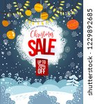 christmas sale vertical poster. ... | Shutterstock .eps vector #1229892685