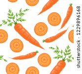 seamless pattern with carrots...   Shutterstock .eps vector #1229896168