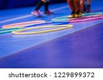 gym class for children. kids... | Shutterstock . vector #1229899372