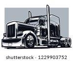 american truck. vector... | Shutterstock .eps vector #1229903752