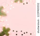 christmas background with fir... | Shutterstock . vector #1229905552
