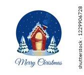 hristmas card with cartoon...   Shutterstock .eps vector #1229906728