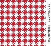 seamless red and white vintage... | Shutterstock .eps vector #1229907712