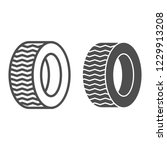 tire line and glyph icon. car... | Shutterstock .eps vector #1229913208