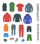 men casual clothes for fitness... | Shutterstock .eps vector #1229928892