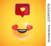 high detailed emoticon with a... | Shutterstock .eps vector #1229929378