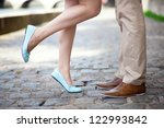 male and female legs during a... | Shutterstock . vector #122993842