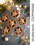 mince pies for christmas on...   Shutterstock . vector #1229948368