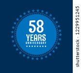 58 years anniversary... | Shutterstock .eps vector #1229951245