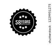 58 years anniversary... | Shutterstock .eps vector #1229951275